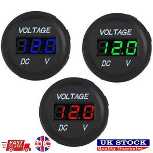DC 12V-24V Car Motorcycle LED Panel Digital Voltage Meter Display Voltmeter UK