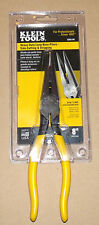 NEW KLEIN TOOLS D203-8N HEAVY-DUTY LONG NOSE PLIERS SIDE CUTTING & Stripping