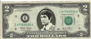 Bruce Lee $2 Dollar Bill Mint! Rare! $1