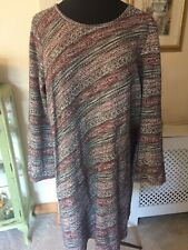 GEORGE RED BLACK & WHITE KNIT DRESS/TUNIC SIZE 22 NWT
