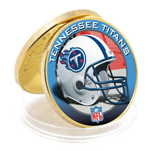 Tennessee Titans Gold Plated Nfl Challenge Coin American Football Team Coin