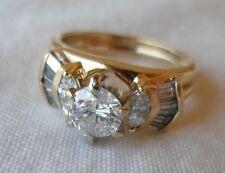 14K Yellow Gold Solitaire Diamond Ring Set - 5 grams, Size 5.25, 0.90 carat