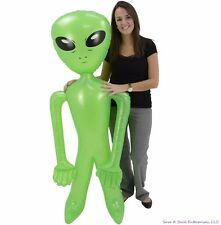 """SET OF 2 HUGE 72"""" GREEN ALIEN INFLATE INFLATABLE 6 FEET BLOW UP PROP GAG GIFT"""