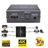 4K x 2K HDMI to HDMI Extractor Converter Optical TOSLINK SPDIF+3.5mm Audio RCA