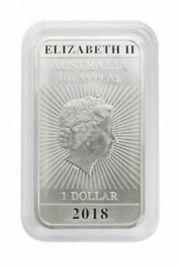 Lindner Rectangular Coin Capsule for 1 oz silver coins (Perth Mint) 24mm x 47mm