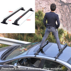 Aluminum Car SUV Roof Rail Luggage Rack Baggage Carrier Cross Stand Anti-theft×2