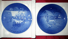Bing & Grondahl Collectible Porcelain Christmas Plates 1969 and1975, Lot of 2