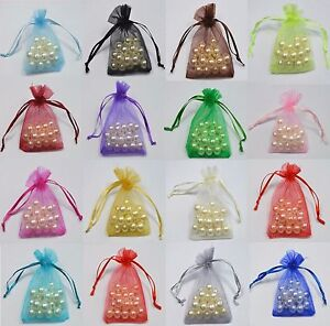 16cm x 11cm Organza Gift Bags / pouches - Jewellery Wedding Favour Bags