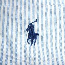 Medium Polo Ralph Lauren BLUE & WHITE OXFORD Button-Front 'Big Shirt' PRL
