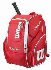 WILSON V Tour Tennis Zaino rosso, più una dozzina di palline da Tennis US Open