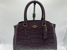 NWT Coach F31485 Mini Sage Signature Leather Oxblood Carryall Handbag Purse