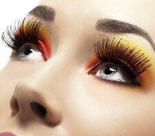 70s 80s False Eyelashes Fancy Dress Party Black Lashes #21120 by Smiffys New