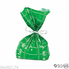 24 Super Bowl TAILGATE Party Favors FOOTBALL FIELD CELLO Goody TREAT BAGS