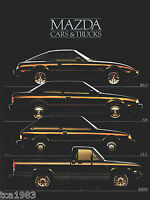 1985 MAZDA Brochure / Pamphlet: 626,RX-7, GLC, PICKUP TRUCK, Pick Up, RX7,B2000,