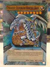 Yu Gi Oh DRAGO BIANCO OCCHI BLU ALTERED EXTENDED ART ITALIANO IT Hand Painted