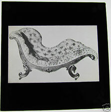 Glass Magic lantern slide  A CHAISE LONGUE C1900  FURNITURE