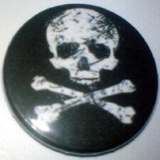 Skull & Cross Bones 25mm Pin Badge Punk/Goth/MetalSKCB4