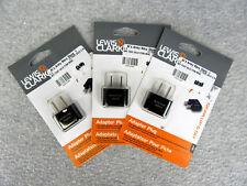 Lewis N. Clark Adapter Plug America/Japan Lot of 3 New