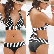 Women Swimwear Push-Up Bikini Set Bandeau Padded Swimsuit Beachwear
