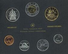 2007 Canada Specimen Set of 7 Coins Trumpeter Swan Dollar Loonie  COA No Box