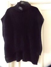 M&S LIMITED EDITION BLACK POLO NECK PONCHO, ONE SIZE, BNWT