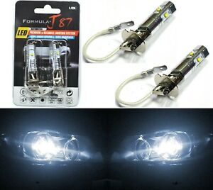 LED 25W H3 White 5000K Two Bulbs Fog Light JDM Color Replacement Plug Play