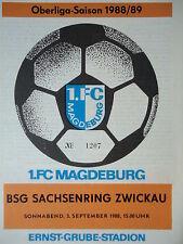 Programm 1988/89 1. FC Magdeburg - Sachsenring Zwickau