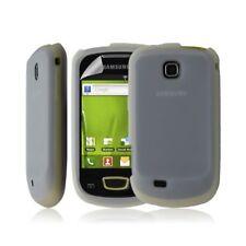 Housse coque étui pour Samsung galaxy mini s5570 couleur Blanc transparent + fil