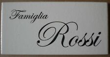 Targa nome incisa su piastrella di ceramica 10 x 5 cm
