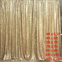 Matte Gold Sequin Photography Backdrop for Wedding Decoration Party Choose size