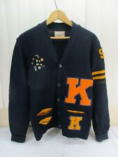Vintage 1954 Kelso High school Varsity Letterman Sweater with School Award Pins