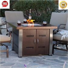 Fire Pit Table Outdoor Fireplace Propane LP Gas Patio Furniture Backyard Heater
