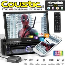 """COUSTIC MCX-1705 7"""" Single DIN GPS Mirror Link Car DVD Player Stereo Headunit"""
