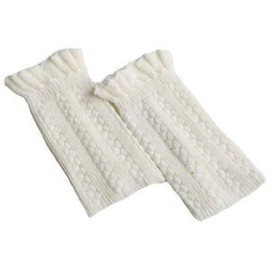 Women Knitted Short Leg Warmers Ladies Stylish Boot Cuffs Socks Accessories