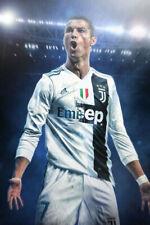Doppelganger33 LTD Cristiano Ronaldo Real Madrid Free Kick Stance Wall Art Multi Panel Poster Print 47x33 inches