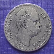 REGNO d'ITALIA  Umberto I  2 lire 1881 Arg.