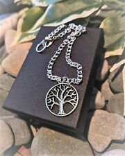 Tree of Life Pagan Wicca Anklet Ankle Bracelet Handmade Silver Plated