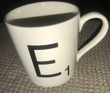 New listing Scrabble Letter E Tile Coffee Mug Cup 12 oz Wild and Wolf White 2014