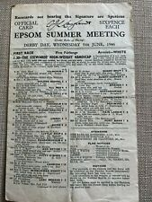 More details for 1946 derby stakes race card: airbourne