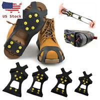 Ice Snow Anti Slip Spike-s Grips Grippers Crampon Cleats For Shoes Boot Overshoe