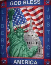 1 God Bless America Statue of Liberty Fabric  Panel