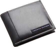 Tommy Hilfiger Men's Leather Credit Card Wallet Bifold Black 5675-01