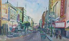 6th & Broadway Plein Air Impressionism Landscape John Kilduff Oil 24x40