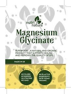 Magnesium Glycinate  520mg Capsules  Brain Support promote sleep