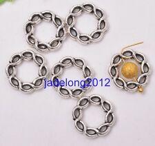 20pcs Tibetan Silver Circle Spacer Bead Frame 15mm DIY Jewelry C3098