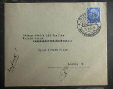 1939 Goslar Germany Cover To London England Jewish Aid Committee Judaica