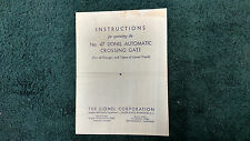 LIONEL # 47 AUTOMATIC CROSSING GATE PHOTOCOPY