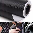 1.27mx30cm Black Carbon Fiber Vinyl Car DIY Wrap Sheet Roll Film Sticker Decal