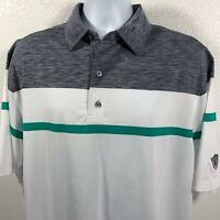 Footjoy San Diego SDCC Stripe Colorblock Golf Polo Shirt XL Poly/Spandex Blend
