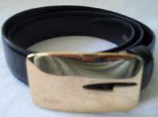Gucci Ladies Black Leather Belt Size 75